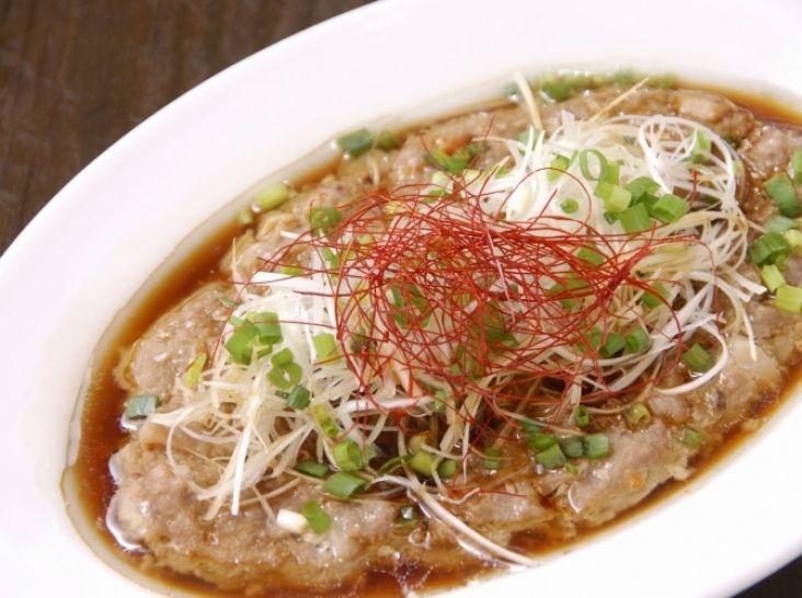 お煮しめ in 中華風蒸しハンバーグ