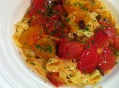 四種トマトの発汗パスタ