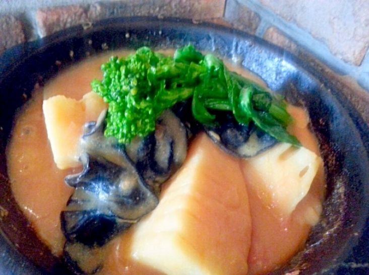トマト味噌で♪春野菜の洋風どて煮