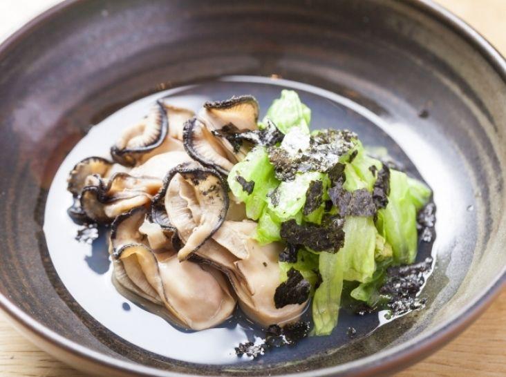 糸島かきと福岡レタスのさっと煮
