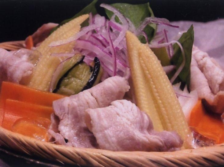 豚しゃぶサラダ-和風味噌ドレッシング-