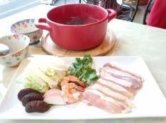 常夜鍋~鶏肉と野菜の貝割れポン酢~
