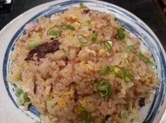 手作りツナと鰹節の炒飯