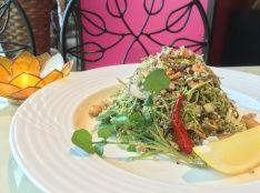 ミャンマー風お茶の葉入りサラダ仕立て ラペットゥ