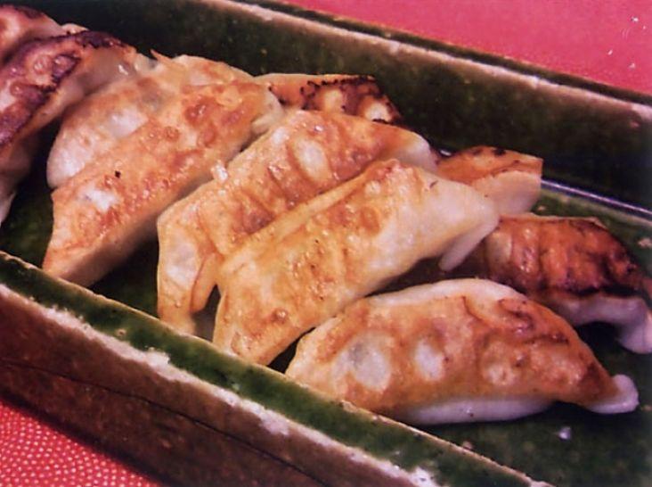 高菜漬けと竹の子の焼餃子