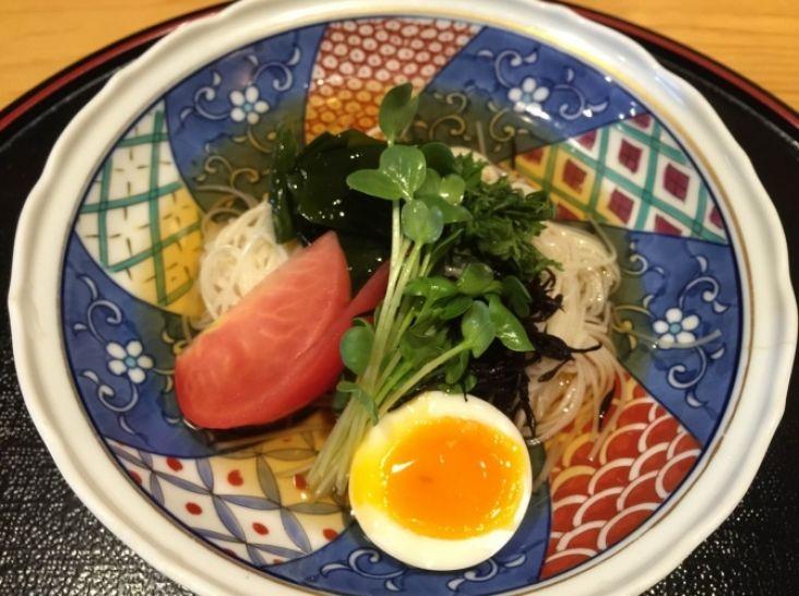 長崎島原そうめんのカルシウムたっぷりサラダ