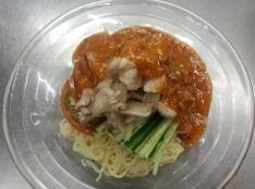 白味噌の棒棒鶏麺