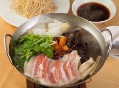 野菜たっぷり火鍋しゃぶしゃぶつけ麺