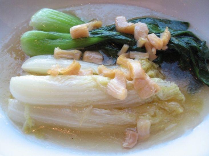 娃娃菜と青梗菜・干し貝柱の煮込