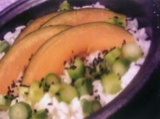 アスパラと南瓜の炊き込みご飯