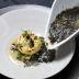 生黒のりスープと帆立貝のグリエ