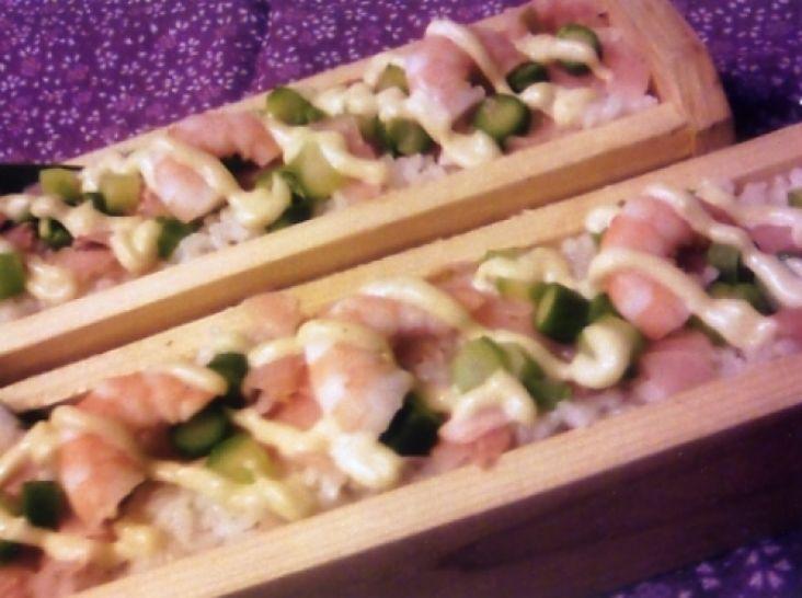 アスパラとプリプリ海老のちらし寿司