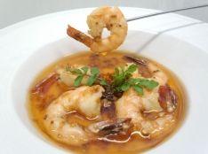 食べるラー油のアヒージョ 「辛い海老」