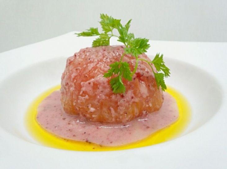 トロ~リな飲むトマトサラダ ピンクのビネガーソース