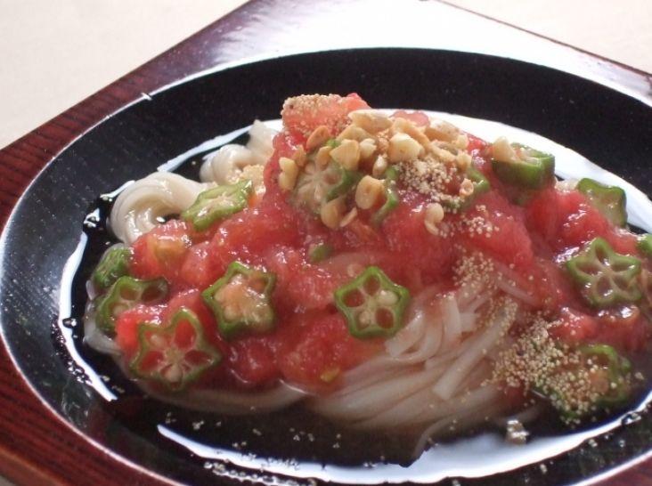 冷製!トマトあえ麺!