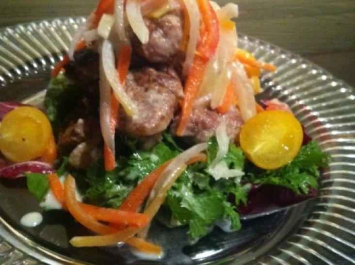 鶏肉とたっぷり野菜のクリーミーパルテノマリネ