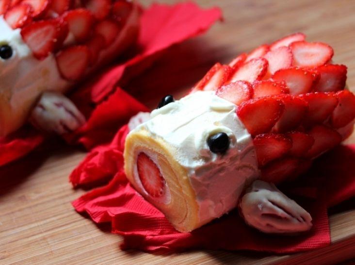イチゴ大好き!鯉のぼりシフォンロール