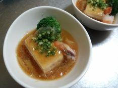 豆腐と海老の蟹あんかけ