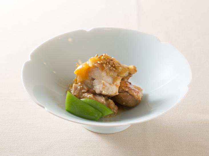 鶏もも肉幽庵焼き マーマレード味噌和え