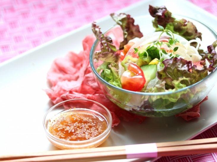 低カロリー!日本酒と共に、ひとくち夏野菜サラダ素麺