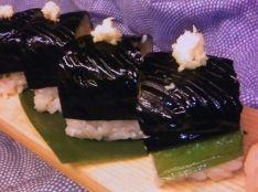 ナスの棒寿司