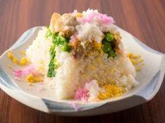 菜の花と蛤の炊き込みご飯