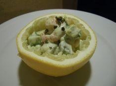 えびマヨとアボカド グレープフルーツと山椒の香りとアクセント