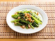 アジアンスタイルな青菜の炒め物:小松菜と海老の!さっと!炒め