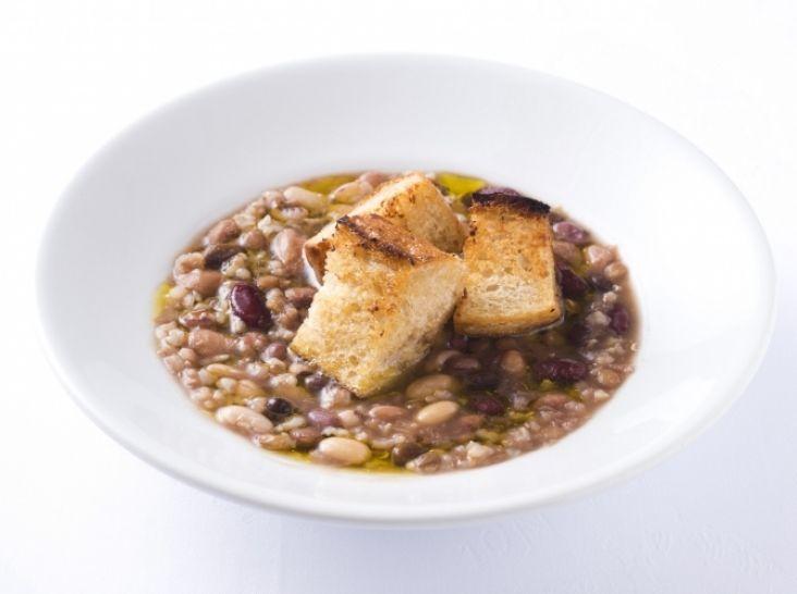 炊飯器で作る 玄米と豆スープ
