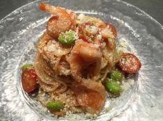海老と枝豆・トマトの冷製カッペリーニ