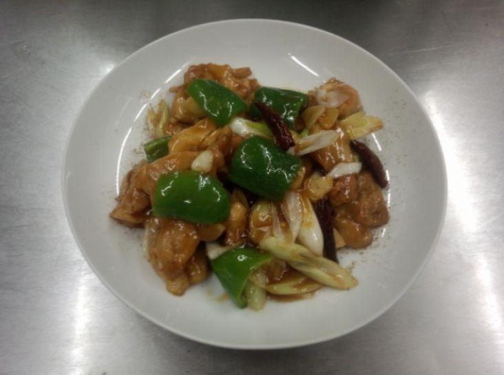 鶏の唐辛子炒め 山椒風味