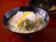ちりめんと大根菜の煮麺(にゅうめん)