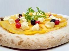 柿とリコッタチーズのドルチェpizza