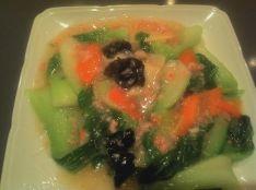 ゆき菜とカニ肉の炒め煮