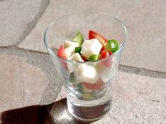 ーー食べる<クリームチキンスープ>サラダーー