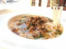 「シャン カウスエ ラピー添え 」ミャンマー汁そば 薬味添え