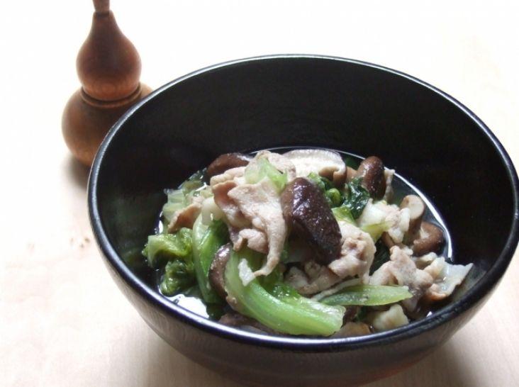 ササッと簡単!豚肉とレタスのサッと煮