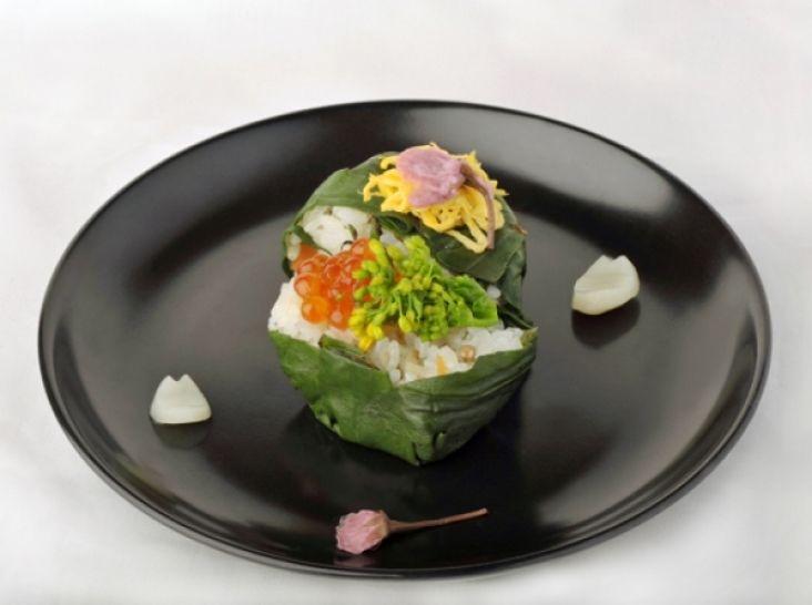 金時草花見寿司