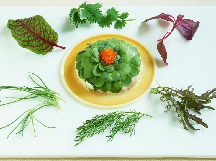真鯛のマリネと海藻のコンポジション 柚子の香り