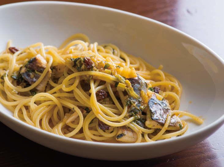 イワシとセロリのスパゲッティ