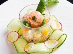 グラスで簡単 サーモンカクテル カラフル野菜と共に