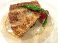 連子鯛のソテー アンチョビクリームソース
