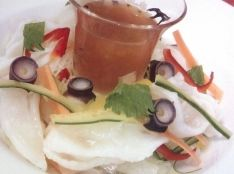 水蛸と五色野菜の梅醤油