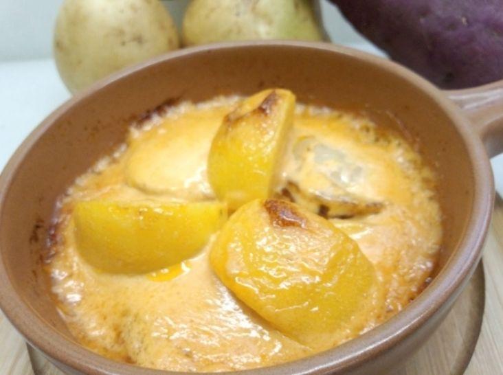 ジャガイモとボイルホタテのマヨグラタン