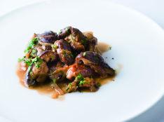 豚肉と椎茸のスカロッピーネ